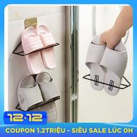 Móc treo dép , giá treo giày dép Tam Giác Sắt gắn tường tiện lợi gọn gàng, giá để dép treo tường tiết kiệm không gian GD279-MTDep-Sat thumbnail