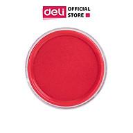 Khay mực dấu Deli, 84x84x25 mm, Đỏ - E9863 thumbnail