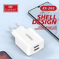 Củ Sạc 2 Cổng USB Earldom ES-202 hỗ trợ sạc nhanh - HÀNG NHẬP KHẨU CHÍNH HÃNG 100% (màu đen hoặc trắng ngẫu nhiên) thumbnail
