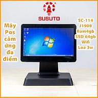 MÁY POS BÁN HÀNG SC-114 - Hàng chính hãng (J1900, 4G DDR RAM, 64G SSD, 14 inch, Black, 1 màn) thumbnail