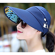 Mũ rộng vành đính hoa thời trang, nón rộng vành chống nắng chống uv nữ thumbnail