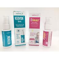 Combo tăng chiều cao 1 Dimao (Vitamin D3 400IU dạng xịt) + 1 Keovon (Vitamin K2 MK7 dạng xịt) thumbnail