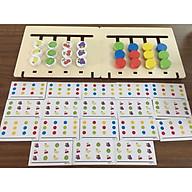 Đồ chơi gỗ - Bộ tư duy logic Toán học Chấm tròn - Trái cây Montessori thumbnail