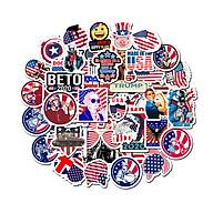 Bộ 50 Sticker chủ đề nước Mỹ dán Macbook, Vali, Mũ bảo hiểm, Điện thoại, Laptop - Hàng Nhập Khẩu thumbnail