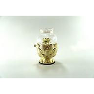 Đèn dầu thờ cúng Phật hoa sen kim sa vàng đốt dầu lưu ly,dầu hỏa - Nhiều cỡ thumbnail
