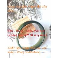 Combo vòng đeo tay Cẩm Thạch, Chất liệu Ngọc Mã Não vân mây, dòng đá Chalcedony, cỡ Ni 5.5cm, Kèm bản PHOTOCOY Giấy kiểm định, kèm túi đựng song hỷ bằng Nhung Tuyết- Mã Crown.X.436B.02 thumbnail