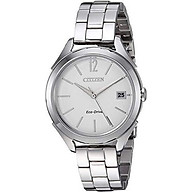Citizen Women s Drive Quartz Stainless Steel and Leather Casual Watch, Color Beige (Model FE6140-03A) thumbnail