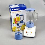 Máy xay sinh tố gia đình 2 cối bằng thủy tinh Povena, xay sinh tố, xay tiêu ớt tỏi đa năng-Hàng chính hãng thumbnail