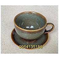 set cốc đĩa capuchino 200ml men hoả biến gốm sứ Bát Tràng thumbnail