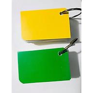 COMBO 2 tập flashcard trắng chiếc lá siêu dễ thương. Flashcard thẻ học từ vựng tiếng anh nhật hàn trung cao cấp Bộ thẻ học tiếng nước ngoài (200 FLASHCARD TRẮNG ĐỤC BO GÓC) tặng kèm khoen thumbnail