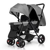 Xe đẩy đôi cho bé( có thể gấp gọn dc)hàng chính hãng Bluel baby sẵn hàng thumbnail