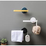 Móc dán treo máng khăn tiện dụng (không cần đóng đinh) - GIAO MÀU NGẪU NHIÊN thumbnail