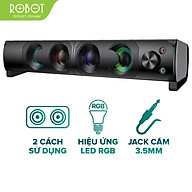 Loa Thanh SOUNDBAR ROBOT RS300 Kiểu Dáng Gaming - Hiệu ứng LED RGB - Công suất lớn 6W - Hàng Chính Hãng thumbnail