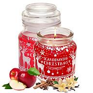 Hũ nến thơm tinh dầu Bartek Scandinavian Christmas 130g QT06657 - gừng, táo, quế (giao mẫu ngẫu nhiên) thumbnail