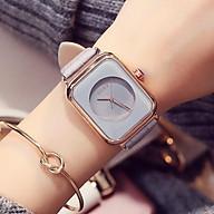 Đồng hồ nữ Guou 8162 chính hãng mặt vuông dây da viền mạ vàng cao cấp chống nước thumbnail