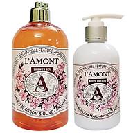 Combo Chăm Sóc Da Sữa Tắm (500ml) Và Sữa Dưỡng Thể (250ml) L amont En Provence Cherry Blossom thumbnail
