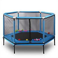 Nhà bóng nhún lò xo có lan can bảo vệ chống va chạm an toàn cho bé OC588 thumbnail