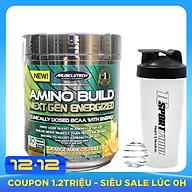 Combo BCAA Amino Build Next gen hương Orange Mango Cooler (Cam Xoài) của Muscle Tech hộp 30 lần dùng hỗ trợ phục hồi cơ, chống dị hóa cơ, tăng sức bền sức mạnh vượt trội, đốt mỡ, giảm cân, giảm mỡ bụng mạnh mẽ cho người tập thể thao & Bình lắc 600ml (Mẫu ngẫu nhiên) thumbnail