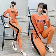 Đồ bộ nữ thể thao mặc nhà, vải cotton quần dài tay dài đẹp - Chất liệu thun co giãn 4 chiều thoáng mát A006 thumbnail