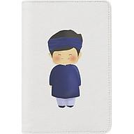 Passport Holder Cậu Bé Áo Dài Bisu Bisu INK-359-001 (20.7 x 14.3 cm) - Trắng thumbnail