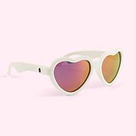 Kính chống tia cực tím có tròng kính phân cực cho bé Babiators The Sweetheart, tráng gương hồng, 3-5 tuổi thumbnail
