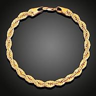 Bộ Trang sức mạ vàng 18K, Phong cách châu Âu, Kiểu xoắn, cỡ dây 3li, kèm hộp đựng lót nhung gấm thumbnail