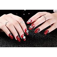 Móng tay giả nail thời trang đính đá - Bộ 24 móng thumbnail