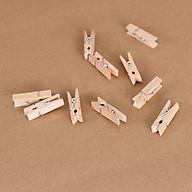 10 Kẹp gỗ màu tự nhiên, tặng 1 xấp giấy note siêu kute thumbnail