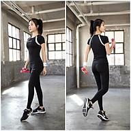 [Đẹp Chất] Bộ Quần Áo Tập Yoga Gym Nữ Cao Cấp, Form Chuẩn Tôn Dáng, Áo Phông Không Mút - LUX40 thumbnail