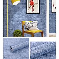 Cuộn 10m Giấy dán tường giả vải Xanh Dương VVH1003 thumbnail