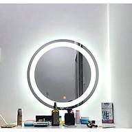 Gương tròn đèn led cát thumbnail