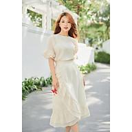 A99 - Set Áo Và Chân Váy Từ Vải Thô Cotton Hạt Organic thumbnail