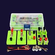 Bộ dụng cụ lắp ráp mạch điện thực hành vật lý, 15 sản phẩm đi kèm thumbnail