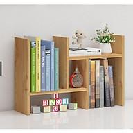 Kệ Sách Mini, Giá Để Sách, Tài Liệu Văn Phòng Trên Bàn Làm Việc Bằng Gỗ , Trang Trí Bàn Làm Việc Siêu Tiện Dụng thumbnail