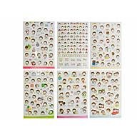 Bộ 6 tấm sticker trang trí Momoi Ver 2 thumbnail
