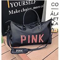 Túi du lịch xách tay PINK dành cho nam nữ cỡ lớn chất liệu vải chống thấm phong cách hàn quốc NT20 thumbnail
