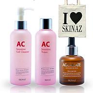 Combo mỹ phẩm Skinaz cho da nhạy cảm - Tặng kèm túi xách thời trang tiện dụng thumbnail