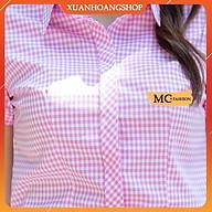 Áo Sơ Mi Nữ Công Sở Cộc Ngắn Tay, Kẻ Sọc Caro Đẹp, 6 Màu ( Xanh Than, Xanh Biển, Tím, Hồng, Đỏ, Be ) Mc Fashion A652 thumbnail