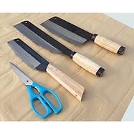 Bộ dao nhà bếp chặt xương thịt, dao thái, dao gọt trái cây, kéo cắt truyền thống Đa Sỹ. thumbnail