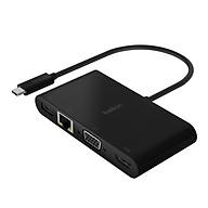 Hub USB Type-C Belkin chia 5 cổng USB-A 3.0 VGA HDMI 4K LAN Ethernet Gigabit USB-C + Sạc PD 100W - AVC004btBK - Hàng chính hãng thumbnail