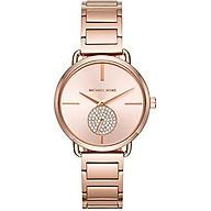 Michael Kors Women s Portia Rose Gold-Tone Watch MK3640 thumbnail