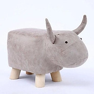 Ghế ngồi hoạt hình động vật, ngộ nghĩnh Ghế ngồi đa năng hình con hà mã, trâu, voi, tê giác thumbnail