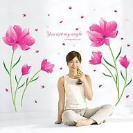 Decal dán tường Hoa màu hồng SK9123A thumbnail