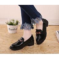 Giày Lười Nữ Da Bóng Đế 3cm H77 thumbnail