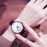 Đồng hồ thời trang nam nữ mèo dây silicon ZO33 thumbnail