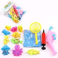 Bộ Đồ Chơi Bể bơi Câu Cá Tại Nhà Cho Bé tặng kèm hình dán sinh vật biển đáng yêu (Tặng sinh vật biển ngẫu nhiên) thumbnail