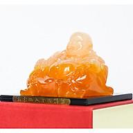 Tượng Phật Di Lặc đá ngọc đeo vòng tiền khổng lồ thumbnail
