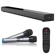 Loa thanh 5.1 nghe nhạc kết nối Bluetooth Amoi L5 Kèm 2 Micro karaoke không dây - Hàng nhập khẩu thumbnail