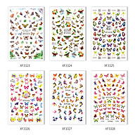 Nail Sticker with Butterfly Patterns for Nail Art Decoration DIY Decals Manicure Set for Women & Kids thumbnail