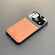 Ốp lưng da kính cao cấp dành cho iPhone 11 - Màu vàng nâu - Hàng nhập khẩu - DELICATE thumbnail